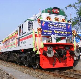 Inaugural of Maitree Express train of the Bangladesh Railway on April 14, 2008, at Dhaka Cantonment.